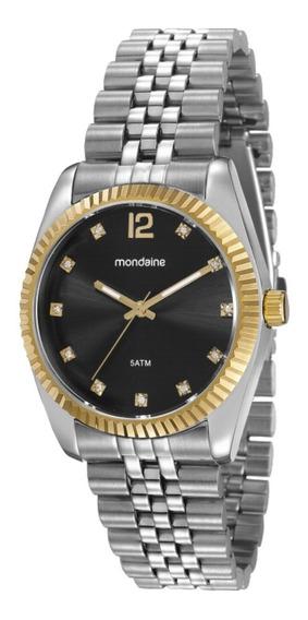 Relógio Feminino Mondaine Prata Estilo Rolex 99175lpmvbs4