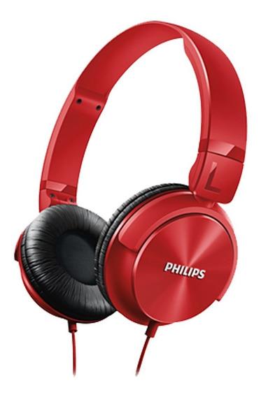 Fone De Ouvido Philips Head Preto Shl3060 Red