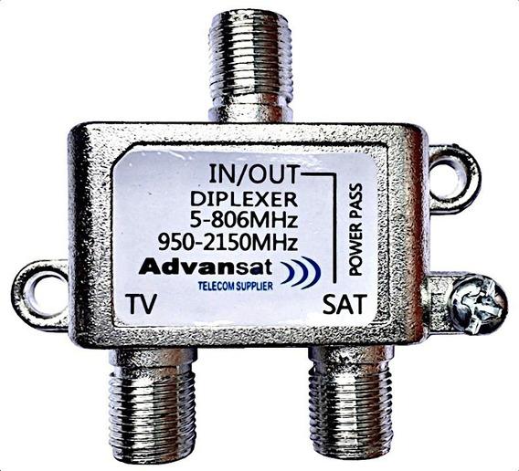 Diplexer Antena Parabolica Satelital Señal Tv + Satelite