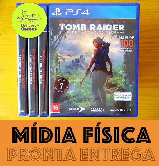 Shadow Of The Tomb Raider Definitive Ps4 Mídia Física Lacrad