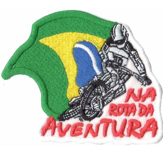 Patch P/ Macacao Camisa Piloto Trilha Motocross Moto Ad30126
