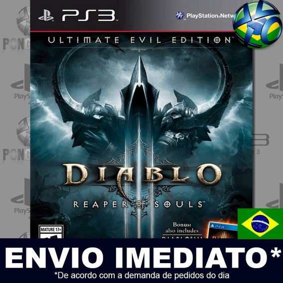 Diablo Ill 3 Reaper Of Souls Ultimate Evil Edition Ps3 Digital Psn Dublado Português Pt Br Jogo Em Promoção