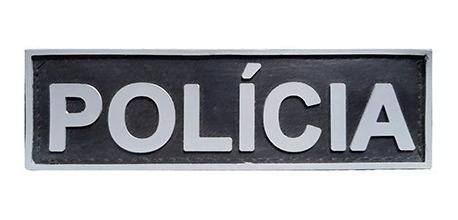 Emborrachado Polícia Tarjeta Para Bornal De Perna 18x5 Cm