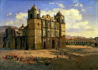Lienzo Tela Canvas Catedral Oaxaca José María Velasco 50x71