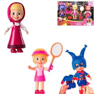 Masha Y El Oso Masha Snap N Fashion Jugueteria Bunny Toys