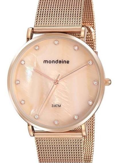 Relógio Mondaine Feminino Rose Gold 76737lpmvre1