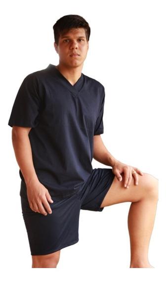 Pijama Masculino Verão Curto Roupa De Dormir Homem 100.28