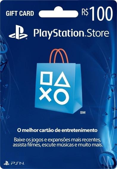 Cartão Psn Brasileira R$100 Cartão Ps4 Brasil Envio Imediato