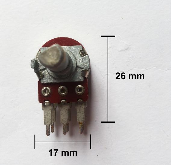 Potenciômetro Duplo 2 X 50k A Sem Derivação Liso