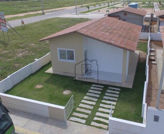 Casa Com 2 Dormitórios À Venda Por R$ 79.900 - Jardim Lola - São Gonçalo Do Amarante/rn - Ca0326