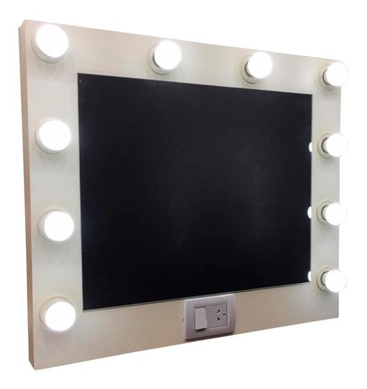 Espejo Hollywood Maquillaje Makeup 70x60cm + 10 Lamparas Led