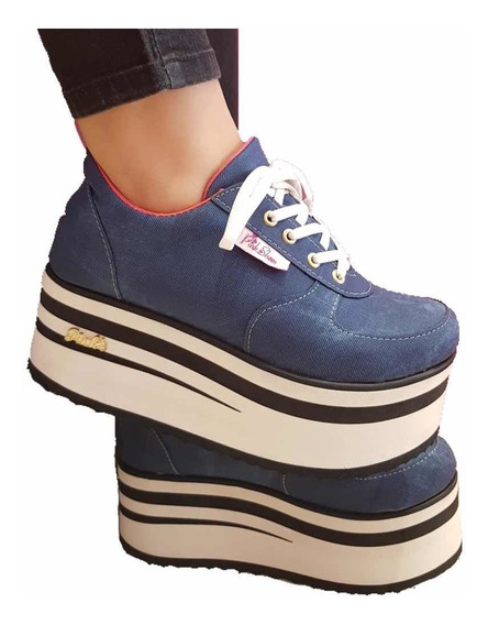Zapatillas Altas De Mujer Con Plataforma