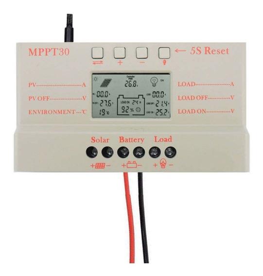 Controlador De Carga Solar Para Bateria Mppt 30a