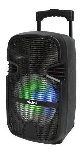 Caixa De Som Bluetooth Usb 80w Vicini Rádio Fm Bivolt Sd