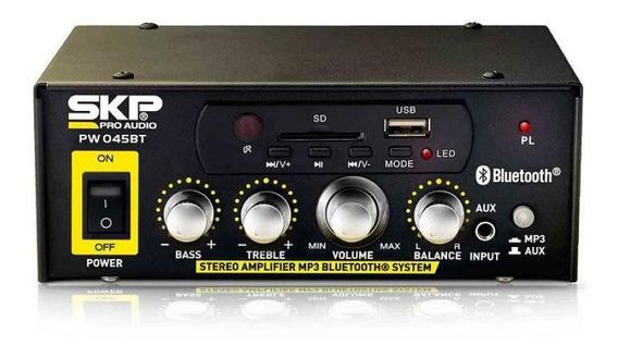 Amplificador Skp Pw-045bt - 45w Rms Bivolt