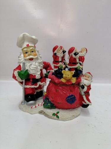 Imagen 1 de 10 de Juego Mantequilleros Navidad Italy Marmolina Papa Noel