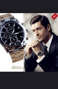Relógio Fashion Mens Luxu, Metal Promoção Aproveite