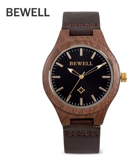 Bewell Zs - Pulseira De Couro Relógio De Quartzo Feminino W