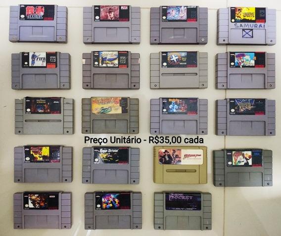 Fita Jogo Video Game Snes Super Nintendo - Valor Unitário