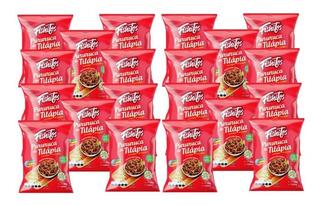 Snack Pururuca Tilápia Toque Limão Com 20 Pacotes Fishitos