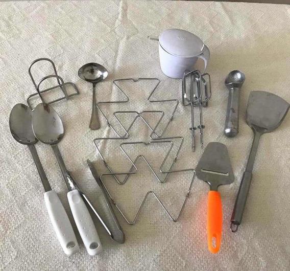 Kit Utensílios De Cozinha Inox 14 Peças