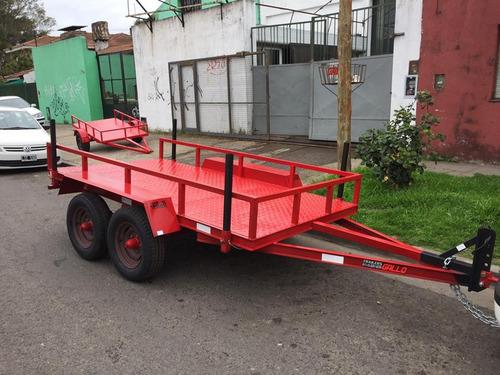 Trailers Batanes Doble Eje  Cargas Generales 3000kg