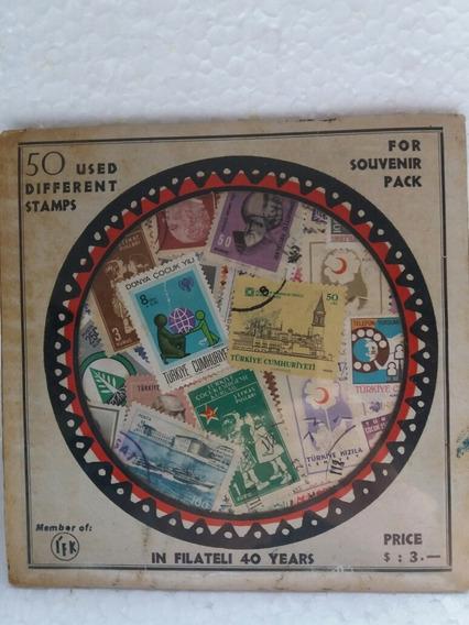 50 Selos Usados Da Turquia