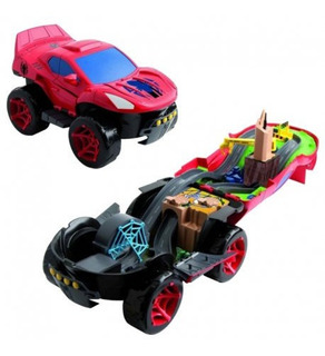 Trilha Imc Toys Homem-aranha Spider Car Playset 2 Em 1