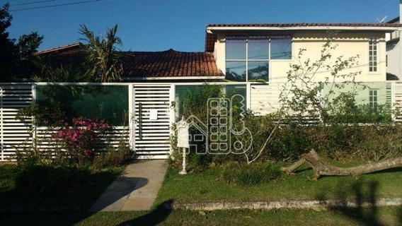 Casa Residencial De 3 Quartos, Sendo 1 Suíte E 2 Vagas À Venda, Camboinhas, Niterói. - Ca0141