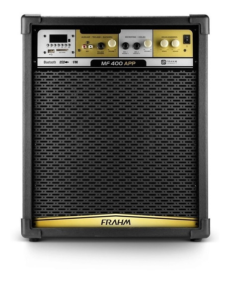 Caixa De Som Amplificada Frahm Mf400 App Bt Bluetooth Usb Fm