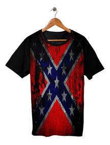 Camisa Camiseta Bandeira Confederada Eua