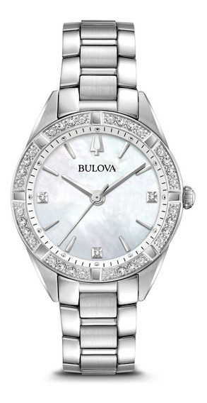 Reloj Bulova Sutton Diamond 96r228 Para Dama E-watch