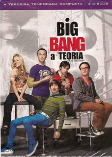 Big Bang A Teoria 3ª Temporada - Box Com 3 Dvds