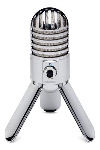 Imagem 1 de 7 de Microfone Samson Meteor Usb Condensador Cardióide Com Tripé