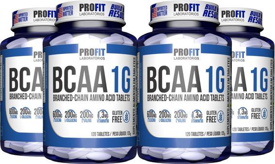 Kit 4x Bcaa 120 Tabletes (480 Tablet) - Profit Aminoácidos