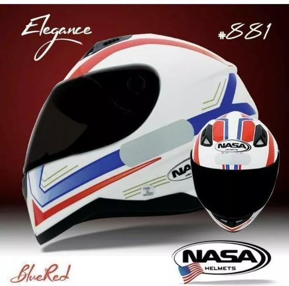 Capacete Nasa Helmets Elegance Sh-881 Az/vm 56/58/60