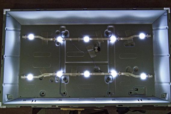 Kit Led Tv 32 Samsung 2 Barras 5 Leds Un32j4000 Un32j4300ag