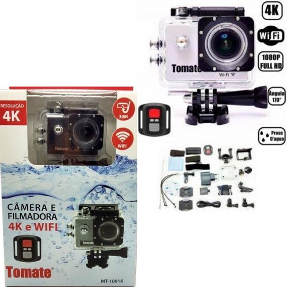 Câmera Filmadora Hd Gopro Tomate C/wifi A Prova D´agua 1091