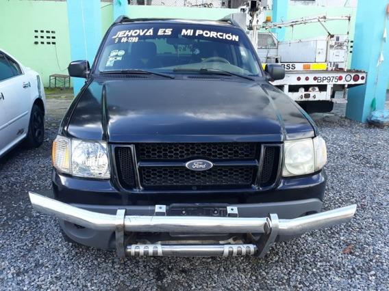 Camioneta Ford Explorer Sportrac Negra 2003 En Piel