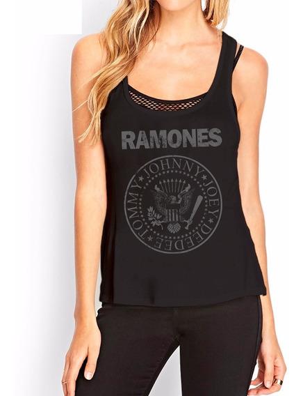 Musculosas Estampadas Personalizadas Ramones Mujer