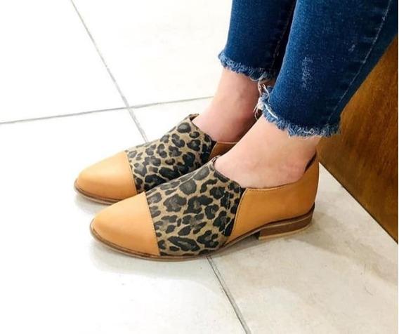 Zapatos Chatitas Cuero Primavera Verano 2020 Art 156 F