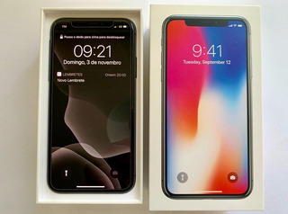 iPhone X 256gb Cinza Espacial + 2 Capas + 2 Películas