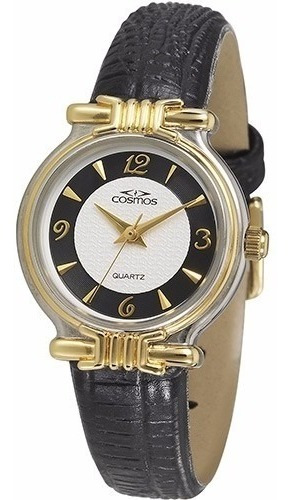 Relógio Feminino Cosmos Analógico Dourado Social - Os28714p