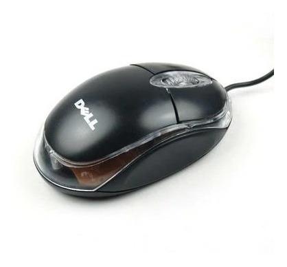Mouse Dell Usb Optico Con Luz Led (3$)