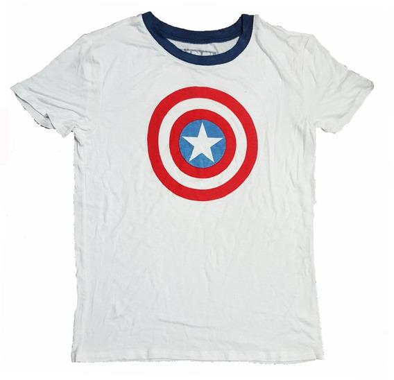 Remera Capitan America Marvel Original Mujer Importada Nueva