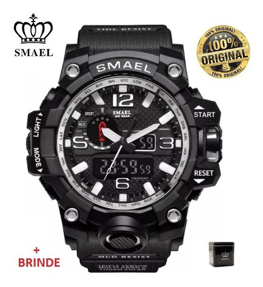 Relógio Esportivo G.chock Smael Mod1545 Preto Militar Tático