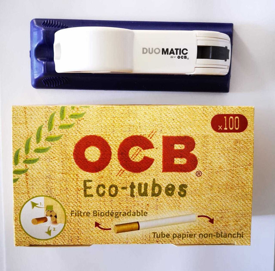 Máquina Ocb Rellenadora Tubos + 100 Tubos / Kit Ocb Promo