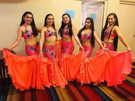 Traje Danza Arabe Coral