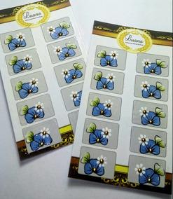 Adesivos Artesanais De Unhas- 3cartelas Com 10 Unidades Cada