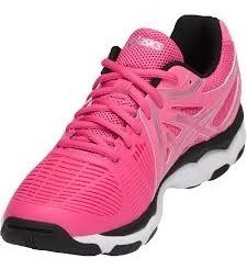 Tênis Feminino Asics- Gel Netburner Ballistic Volêi - Pink Original+nf